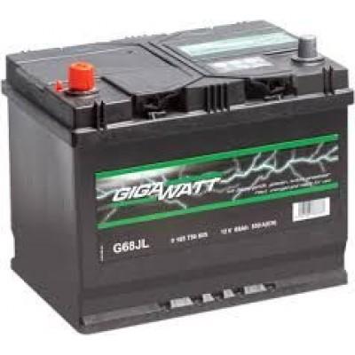 GIGAWATT Аккумулятор 68AH 550A(JIS) клемы 1 (261x175x220) S4 027